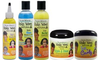Taliah Waajid Full Range of Kinky Wavy for Kids Hair Care Products (5 products full sizes)